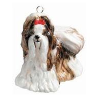 Shih Tzu Brown Dog - Joy To The World Ornament