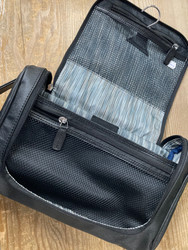 Men's Travel Toiletry Bag with 5 Piece Manicure & Grooming Set
