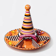Department 56 Halloween Ceramic Snacks/Chips and Dip Tray