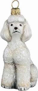 Toy Poodle White Dog - Joy To The World Ornament