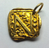 Waxing Poetic Gold Square Insignia Charm 'N'