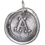 Waxing Poetic Silver Charm Round 'R' Insignia