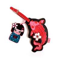 Fluff 'Kimono Cuties' Koi Fish Luggage Tag