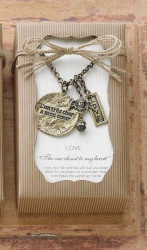 "Mudpie Antique Gold 'Love' 34"" Necklace"