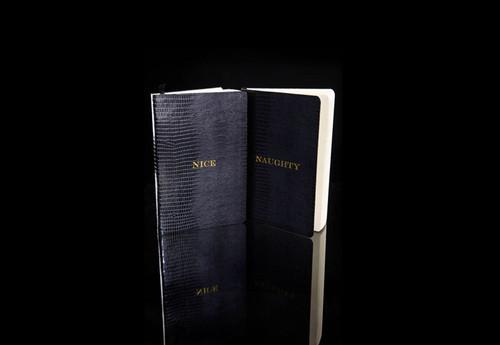 D.L. & Co. Naughty & Nice Journal Black