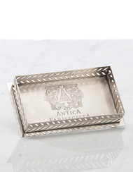 Antica Farmacista Nickel Decorative Tray fits Two 10 oz