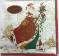 Caspari 'Father Christmas' Ivory Napkin