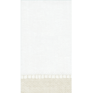 Caspari 'Natural' Paper Linen Guest Towels 12 Count