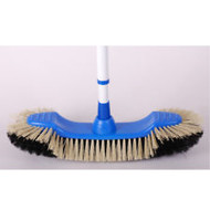 "CWP Euro Broom 15"" Brush Head with Telescopic Handle"