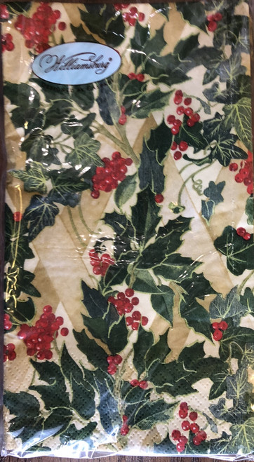 The Holly and The Ivy' Paper Guest Towels