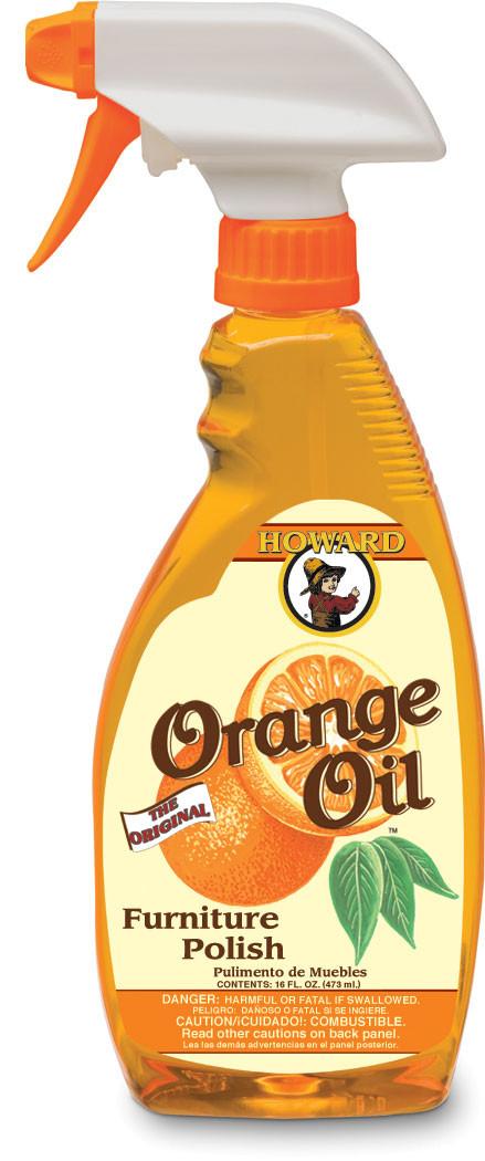 Howard Orange Oil Furniture Polish 16 Oz