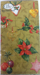 Ideal Home Range Feeling Christmas Gold Paper Guest Towels
