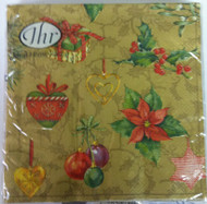 Ideal Home Range Feeling Christmas Gold Paper Napkins