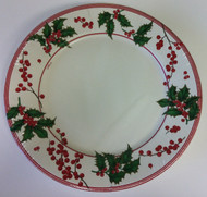 Caspari 'Holly and Berries' Ivory Dinner Plates