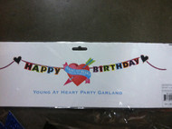 Glitterville 'Young At Heart, Old In Parts' Birthday Banner