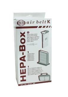 SEBO HEPA Service Box Airbelt K #6431ER