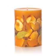 """Rosy Rings Spicy Apple Botanical Candle 6.5"""" 200 hr."""