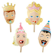 Glitterville Party Mask Set of Four