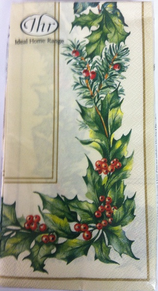 Ideal Home Range Cream Christmas Garland Paper Guest Towels
