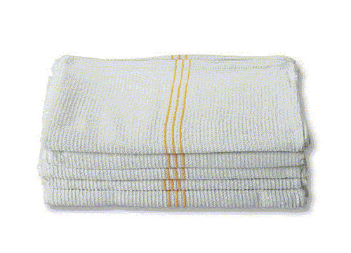 Gold Stripe Kitchen Towels 5 Pack