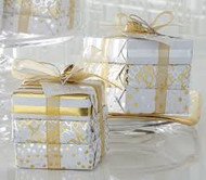 Mudpie Gold Stripe Soap Package