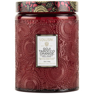 Voluspa Goji Tarocco Orange Large Embossed Jar Candle