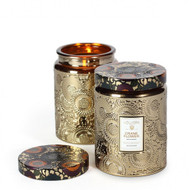 Voluspa Crane Flower Large Embossed Jar Candle
