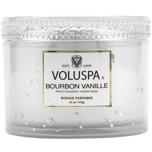 Voluspa Bourbon Vanille 2 Wick Glass Candle