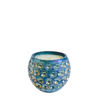 Opaline Peacock Orb Glass Candle