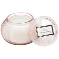 Voluspa Panjore Lychee Chawan Bowl 2 Wick Glass Candle