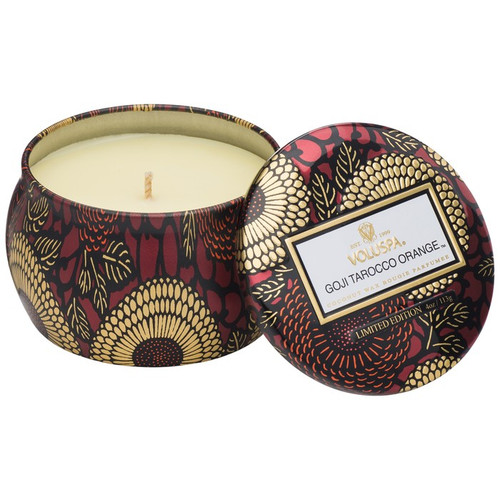 Voluspa Goji Tarocco Orange Mini Decorative Tin Candle