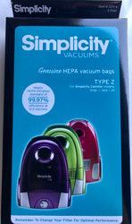 Simplicity HEPA Media Bags for Compact Canisters Jack, Jill and Snap SZH-6