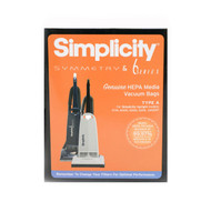 Simplicity HEPA Media Bags for Symmetry Models SAH-6 (6 Pack)