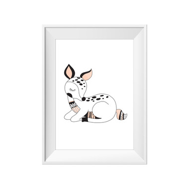 kids print wall décor art nursery art babys room décor whimsical pictures inspirational words fawn deer animal motif