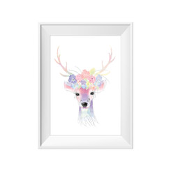 kids print wall décor art nursery art babys room décor whimsical pictures inspirational words deer boho motif