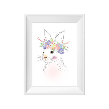 kids print wall décor art nursery art babys room décor whimsical pictures inspirational words bunny rabbit motif