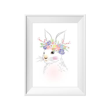 kids print wall décor art nursery art babys room décor whimsical pictures inspirational words bunny rabbit motif