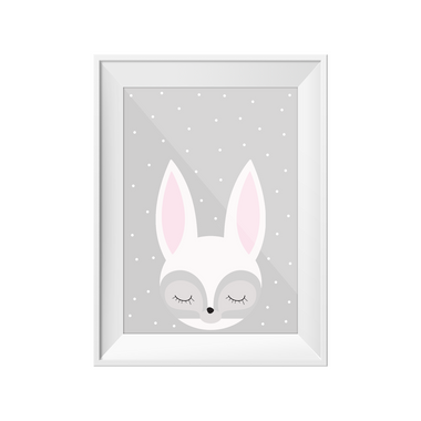 kids print wall décor art nursery art babys room décor whimsical pictures inspirational words rabbit motif
