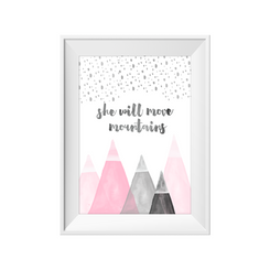 kids print wall décor art nursery art babys room décor whimsical pictures inspirational words mountain motif