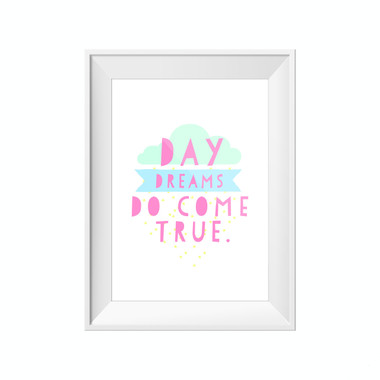 kids print wall décor art nursery art babys room décor whimsical pictures inspirational words dreams motif