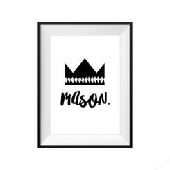 Personalised Crown Print