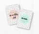 baby milestone card sets  speckles dots motif speckles dots motif