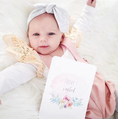 Floral Water Colour Baby Milestone Cards