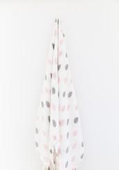 baby wrap swaddle bamboo muslin raindrop motif