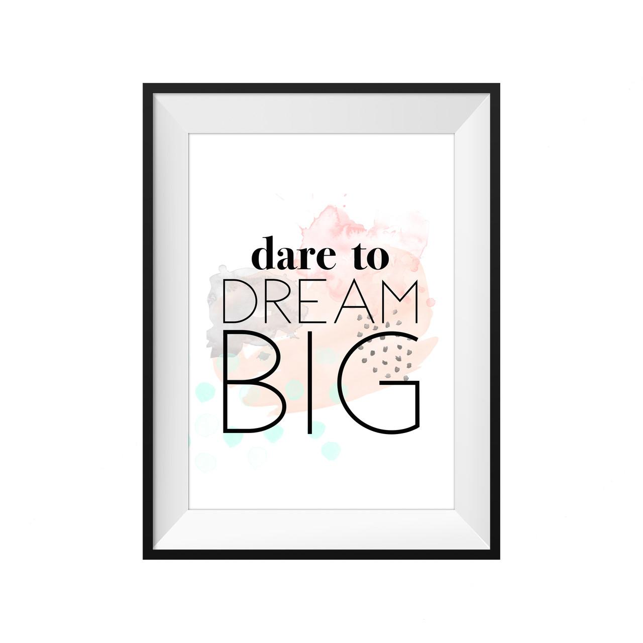 Kids Prints/Wall Decor : Dare To Dream Big