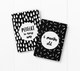 baby milestone card sets  black and white abstract motif
