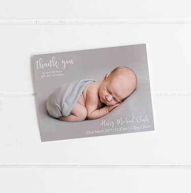 baby birth announcement card decks thank you motif