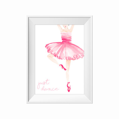kids print wall décor art nursery art babys room décor whimsical pictures inspirational words dancer ballet motif