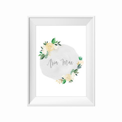 Antique Bloom Personalised Print