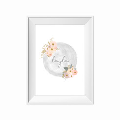 kids print wall décor art nursery art babys room décor whimsical pictures inspirational words customised bespoke watercolour floral  motif